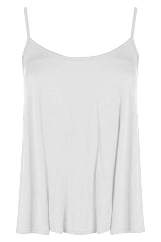 Boohoo Womens Petite Orla Swing Cami Top In White Size 2