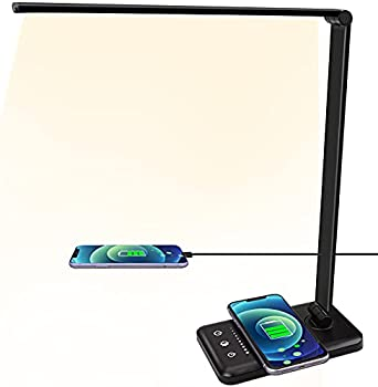A3A Acadgq 5 Colors and Sliding Touch LED Desk Lamp with Wireless Charger
