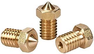 Lei Zhang 3 Pcs 3D V/6 V/5 Brass Nozzle 3D Printer Extruder Nozzles 0.2/0.25/0.3/0.4/0.5/0.6/0.8/1.0 Mm for 1.75mm Filamen...