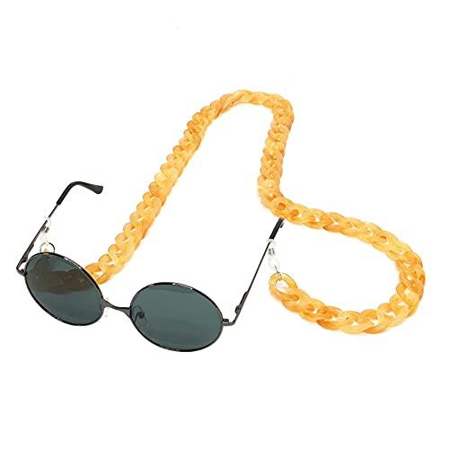 Lanyards Nueva cadena mujeres hombres cordón acrílico gafas cadena en el cuello elegante gafas de sol correa gafas collar