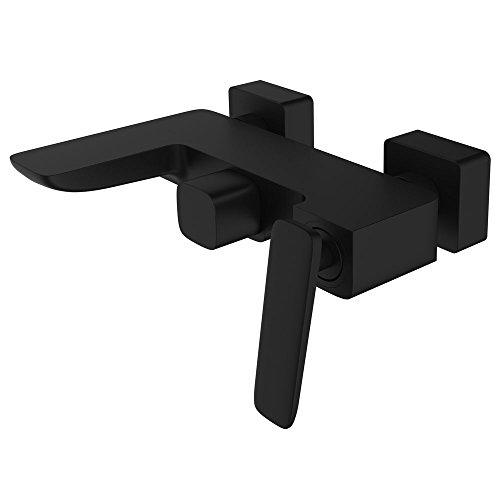 Badewannen Unterputz Einhebelmischer Mischbatterie Wannenarmatur Armatur Schwarz Serie LUDO Sanlingo