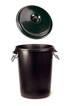 chiner   Cubo de Basura Comunidad Plastico Negro 100