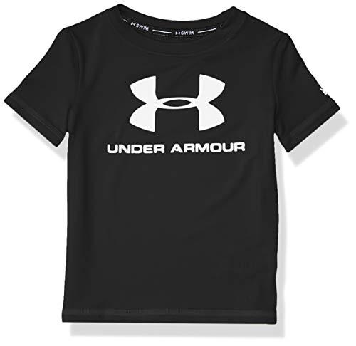 Under Armour UA Big Logo Surf Shirt Camisa de protección de Sarpullido, Negro Sp20, S para Niños