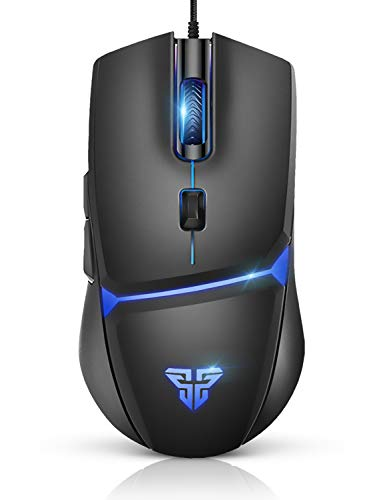 FANTECH 8000 DPI Wired Gaming Mouse ,One-Click Switching of RGB Breathing Lighting And Sensitivity Brings a Comfortable Experience, 6 Programmable Keys,Ergonomic Suitable,For Windows PC Gamers (Black)