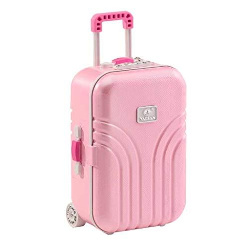 WYH Spieluhr im Koffer-Stil, Schmuckkästchen, drehbar, Ballerina, Mädchen, für Kinder, Geschenkbox, melodiös (Farbe: Rosa)