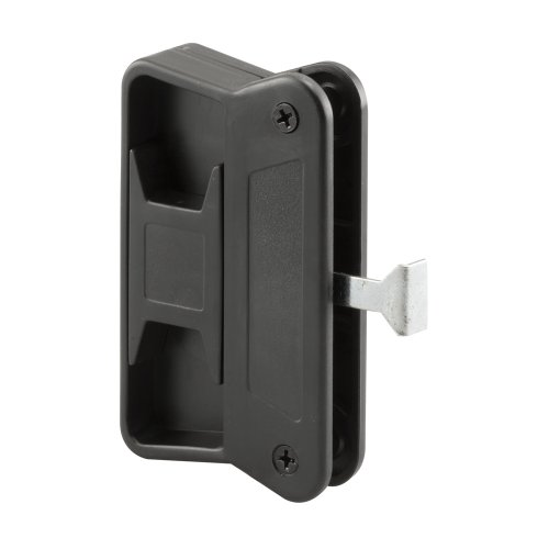 Prime-Line Products A 201 Sliding Screen Door Handle with Long Latch, Black