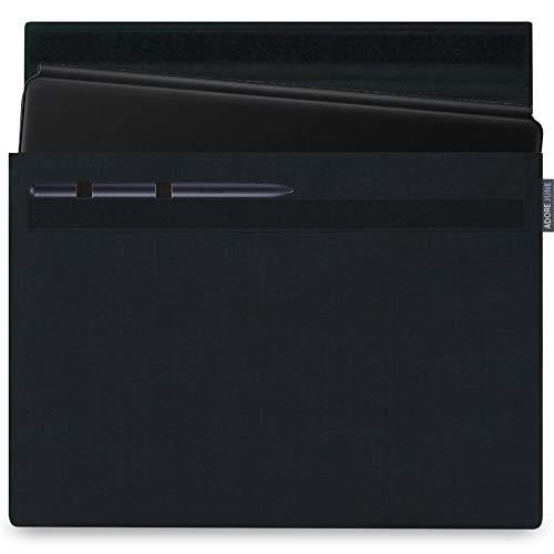 Adore June 12,4 Zoll Classic Schwarz Tasche kompatibel mit Samsung Galaxy Tab S7 Plus mit S-Pen Halterung