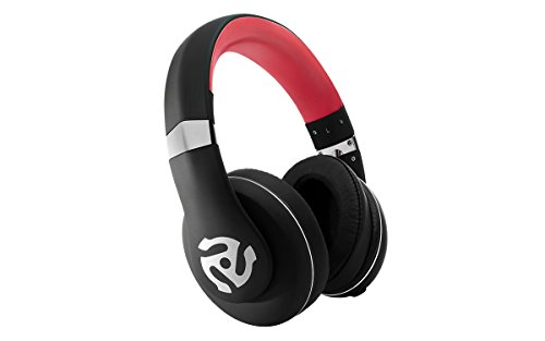 Numark HF325 - Auriculares de diadema cerrados (circumaurales para DJ), color negro y rojo