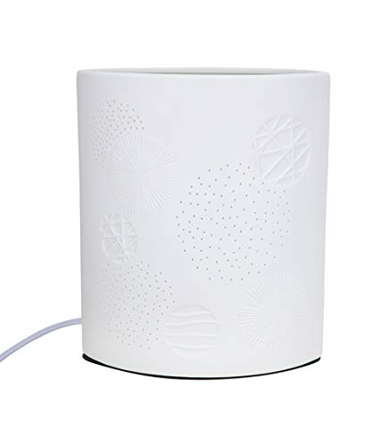 GILDE kleine Stehlampe - aus Porzellan mit Lochmuster im Prickellook H 28 cm
