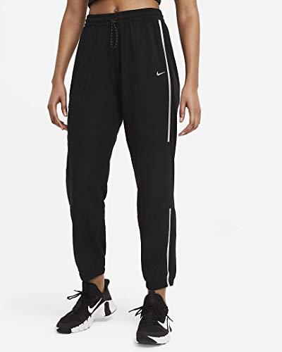 Nike DA0522-010 W NP CLN PANT WOVEN SP Pantaloni sportivi Donna black/(metallic silver) M