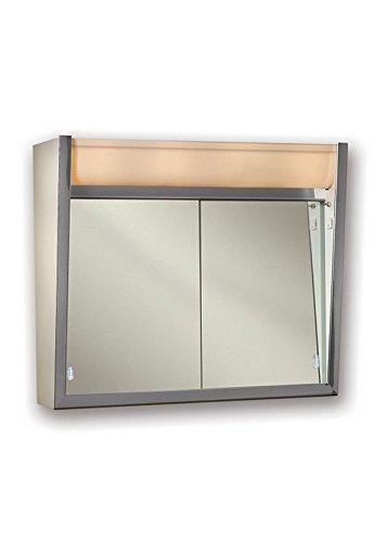"Jensen 124LPX Lighted Sliding Doors Medicine Cabinet, 24"" x 23.5"""