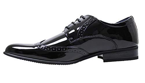 scarpe francesine uomo Evoga Scarpe uomo Class nero francesine vernice lucida eleganti e da cerimonia (43
