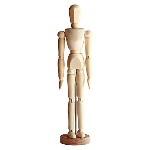Manichino da Disegno, manichino Umano in Legno per Disegno e Pittura, manichino Artistico da 13 cm e 4,5 Pollici con Base e Giunti Flessibili Schizzo di Artista Modello da Disegno Mannequin Art Doll
