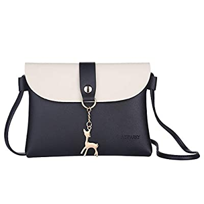 Small Crossbody Purse,PU Leather Small Purse for Womens With Pendant With Strap/Gold Chain Strap