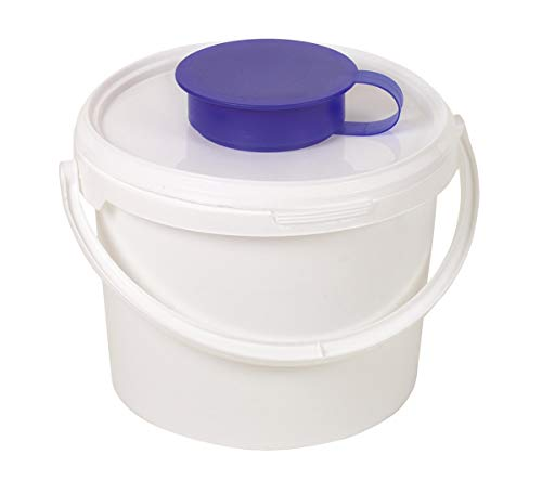Spender-Eimer für Vliesrollen, Spender für Vliesrollen, Hygienespender, Vliesrollen-Dispenser, Feuchttuch-Spender, Größe:3.4 Liter