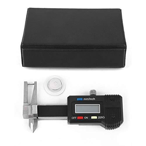 Regla de calibre digital, calibre de espesor digital, calibre de calibre digital, rango de medición de 0-25 mm para medición de piedras preciosas piezas de trabajo pequeñas