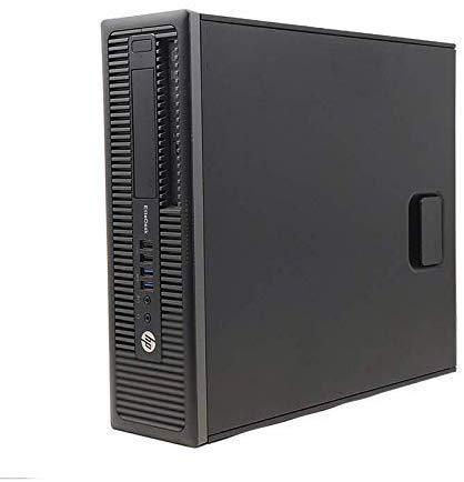 HP EliteDesk 800 G1 SFF - Ordenador de sobremesa (Intel Core i7-4770, 8GB de RAM, Disco SSD de 480GB, Lector DVD, Windows 10 Pro ES 64) - Negro (Reacondicionado)