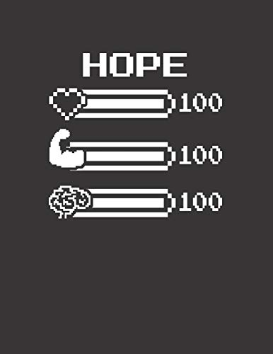 HOPE: Pixel Retro Game 8 Bit Design Blank Composition Notebook College Ruled, Name Personalized for Girls & Women. Gaming Desk Stuff for Gamer Girls. ... Gift. Birthday & Christmas Gift for Women.