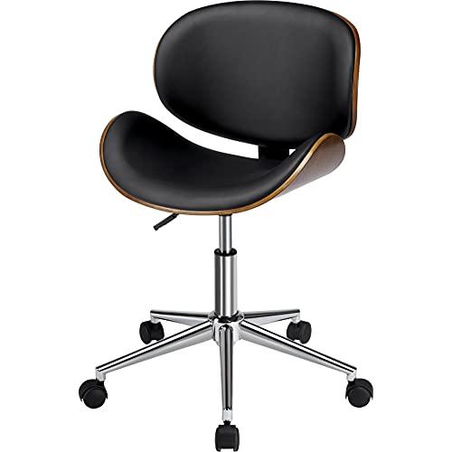 Yaheetech Bürostuhl 360° Drehstuhl aus Kunstleder gepolsterter Schreibtischstuhl Ergonomischer Arbeitsstuhl