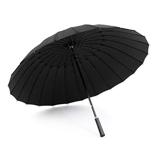 24 Bone Lange Steel Winddicht Paraplu, Mannen Retro Dubbellaags 2 Personen Grote Paraplu Met Een Sterke Weerstand Tegen Wind En Regen Mogelijkheid Voor Business Advertising,Black
