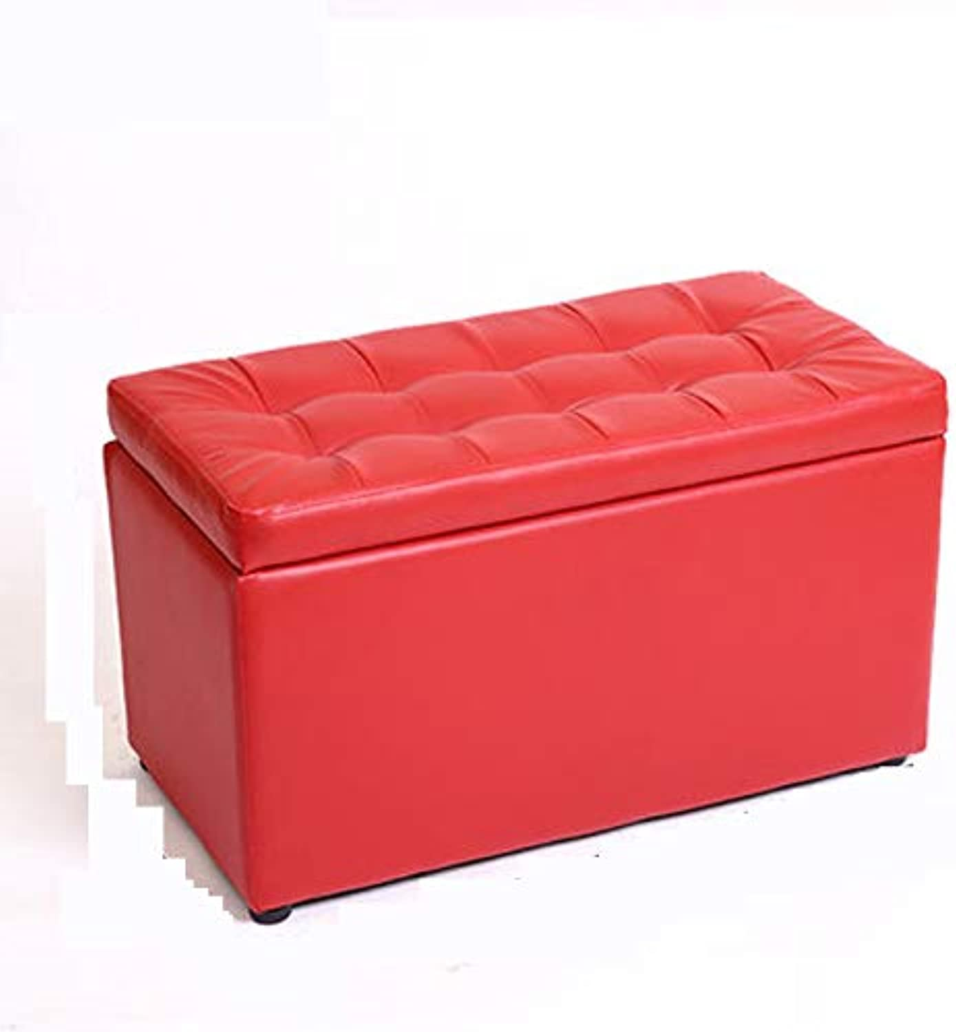 SYFO Household Solid Wood Stool, Stylish Sofa Bench, Creative Bed End Stool, Creative Bed End Stool Stool (color   Red)