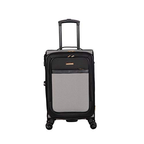 Isaac Mizrahi Greenwich 20' 8-Wheel Spinner Luggage, Black White
