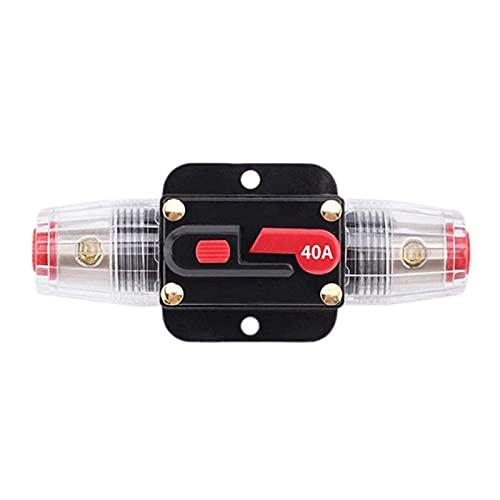 Creely Fusibles de Disyuntor de 40A 12-24 V para ProteccióN del Sistema, Interruptor EstéReo de Barco Marino para Coche, ProteccióN del Sistema Inversor de Audio