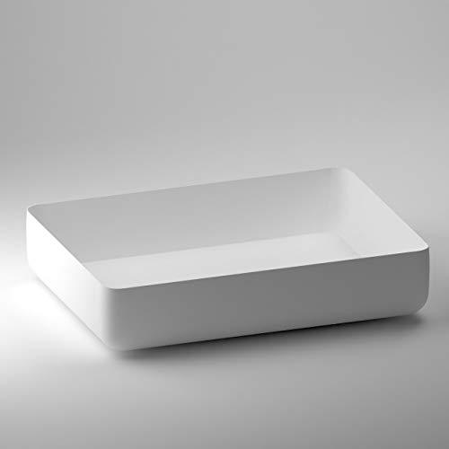 SCHWAN SPA - Lavabo da appoggio, modello Ravena, 546 x 402 x 120 mm, colore: Bianco opaco