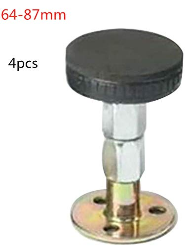 Verstelbaar bedframe, anti-shake-gereedschap met schroefdraad voor meubelbevestigingsplaten plat voor bedtafelbank met 10 stuks dubbelzijdig 3M-plakband. 64-87 mm