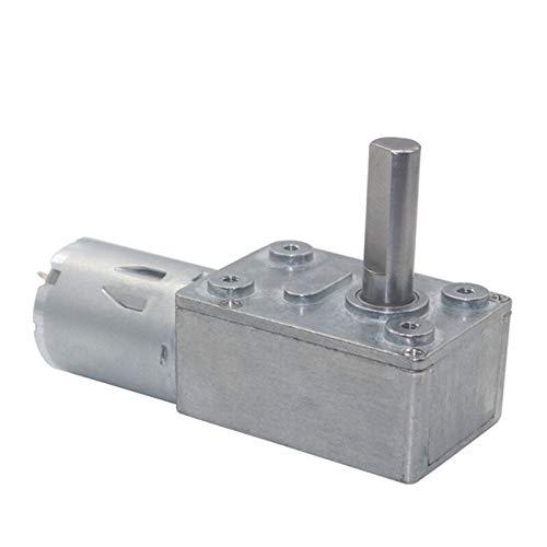 WNJ-TOOL, 1pc DC 6V 12V 24V Getriebe Schneckengetriebemotoren Reversible High Torque Turbo Motor 6-210RPM Mini Electric Getriebe Reducer Motor-Getriebe (Farbe : 30 RPM, Größe : 12V)