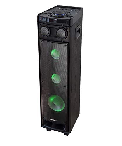 Sytech XT80BT - Altavoz Profesional de Alta fidelidad. Altavoces de 3 vías. Tecnología Bluetooth. Portátil e inalámbrico. Espectaculares Luces RGB itegradas. Gran Potencia de Salida de 120 W