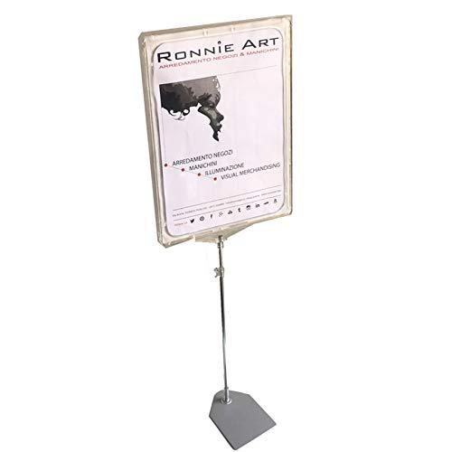 metalarredo PIANTANA Regolabile da 50 A 100 cm con Cornice Porta Immagine A4
