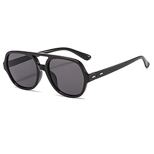 BANLV Gafas de Sol de Doble Haz para Damas, Gafas Planas de Gran Valor y Montura Grande, Gafas de Sol para Exteriores, protección UV