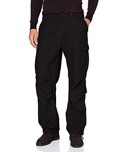 Brandit M65 Vintage Pantalón Cargo de Hombre - Negro, 5XL