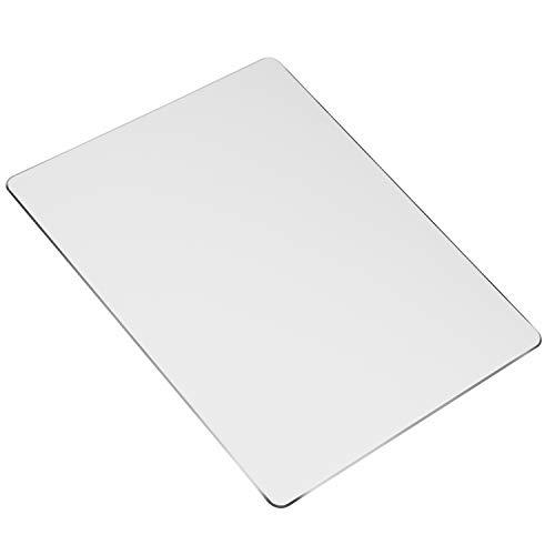 Mauspad Metall Aluminium Mauspad Doppelseitiges Harte Mausmatte rutschfeste Wasserdicht Mausunterlage für Laptop, Computer und PC 220 * 180 * 2 MM (Silber)