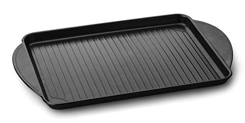 Mopita MMIVXXMO102 Plat à Four Universel Grill Rectangulaire Noir Aluminium Forgé Céramique Gaz Halogène Induction Plaque d'étanchéité