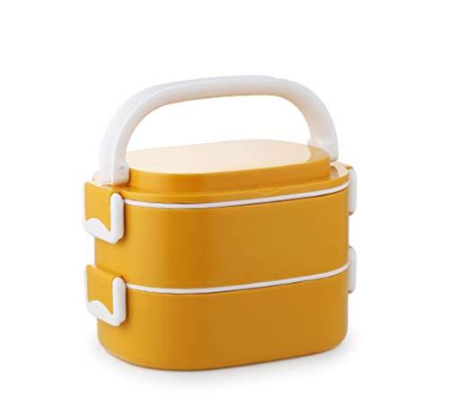CHENGXINGF Fiambrera Compartimiento de portátil, Aislado climatizada Cajas de Picnic, de Gran Capacidad de múltiples Capas Cajas Bento, al Aire Libre Cajas de Picnic, microondas, 2-4 Capas