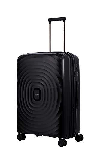 Gepäck Serie LOOPING: Robuste und leichte TITAN Hartschalen Trolleys, Koffer 4-Rad Größe M erweiterbar mit TSA Schloss, 848405-01, 67 cm, 71 Liter, Black (Schwarz)