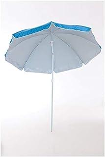 Sombrilla para Playa y Piscina Nylon Orientable Solar UV 8 Varillas Funda con Asa (160 cm, Azul)