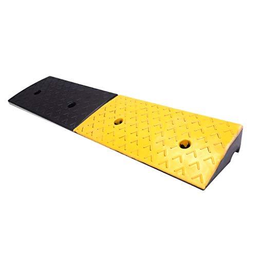 Heavy Duty Rubber stoeprand Rampen, Straat Voertuig Ramps Auto Reparatie Shop Ramps Scooter Ramps Rolschaatsen Ramps/5 Kg, 6 Kg 100*25*4cm Zwart+geel
