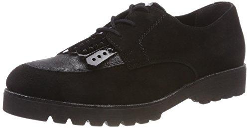 Remonte D0119, Zapatos de Cordones Oxford para Mujer, Negro (Schwarz/Graphit/Schwarz 02), 39 EU