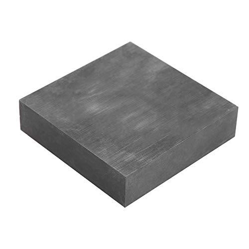 Placa de grafite, 99,9% de pureza, bloco de lingote de grafite, alta pureza/densidade/tenacidade Placa de bloco de grafite em branco Placa de grafite EDM Superfície de fresagem 4 '' * 4 '' * 1 ''
