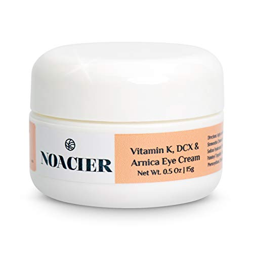 Noacier Eye Cream for Dark Circles and Puffiness with Vitamin K and Arnica - Anti Aging, Wrinkle Treatment