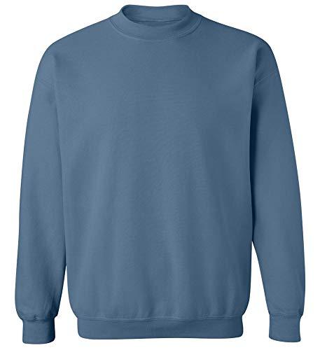 Joe's USA - Soft & Cozy Crewneck Sweatshirts, M Indigo Blue