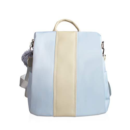 NICOLE & DORIS Rucksack Damen Rucksackhandtaschen Mode Rucksack Schulter Tasche wasserdichte Anti-Diebstahl Schultertasche Damen Rucksack mit großer Kapazität Hellblau