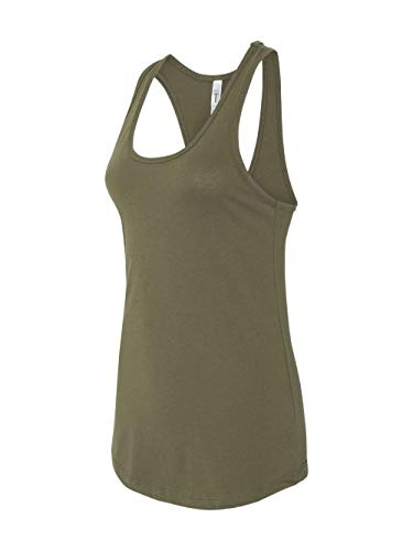 Next Level Women's Apparel Ideal Quality Tank Top, Military Green, XX-Large