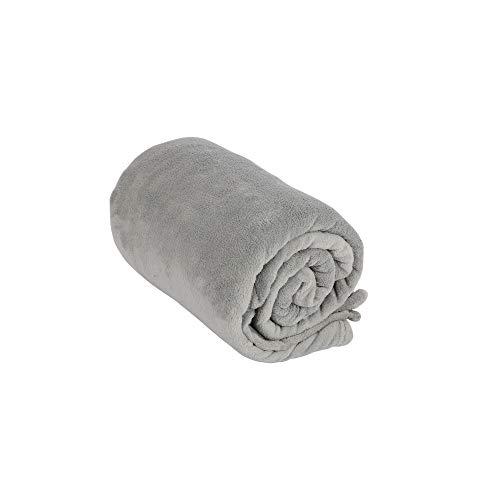 Edaygo Tagesdecke Flauschige Kuscheldecke zum Anziehen mit Ärmeln & Taschen TV-Decke Fleecedecke Plüschdecke 240 g/m², 150 x 180 cm, grau