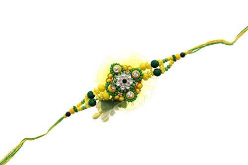 Sataanreaper Presents Blume Kundan Meena Mit Soan Papdi-Becher-Geschenk Für Bruder Combo Pack Raksha Bandhan Band Moli Armband Steinperlen-Designer Mit Roli Tilak-Pack #Sr-1380