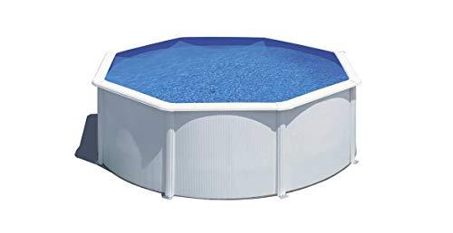 Piscina desmontable de acero blanco redonda 300 x 120 cm con depuradora de arena y escalera de seguridad