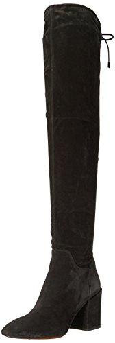 Aquatalia Women's Florencia Suede Over The Knee Boot, Black, 9 M US